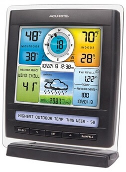 acurite 01512 pro color weather station display