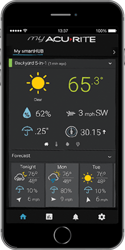 My AcuRite smartphone weather staton app
