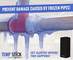Temp Stick Remote Temperature Monitoring via internet Frozen Pipes