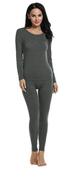 Ekouaer Thermal Underwear Fleece-Line Long John Sets