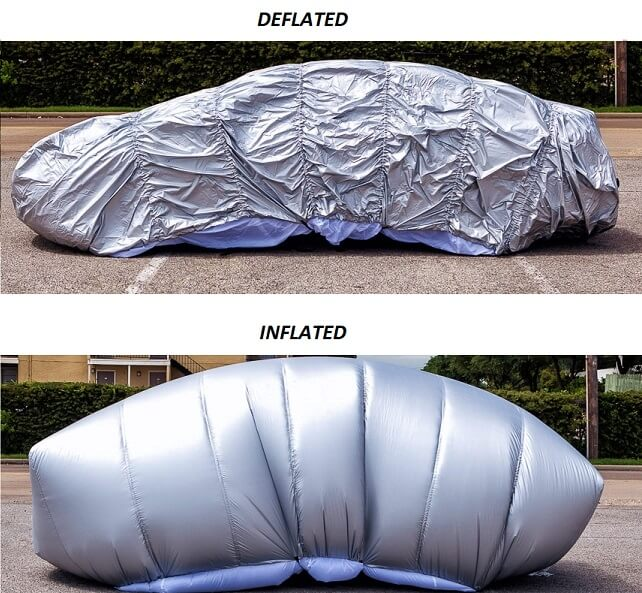 hail protector inflated deflated
