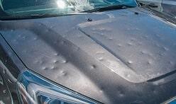 Car with Hail Damage