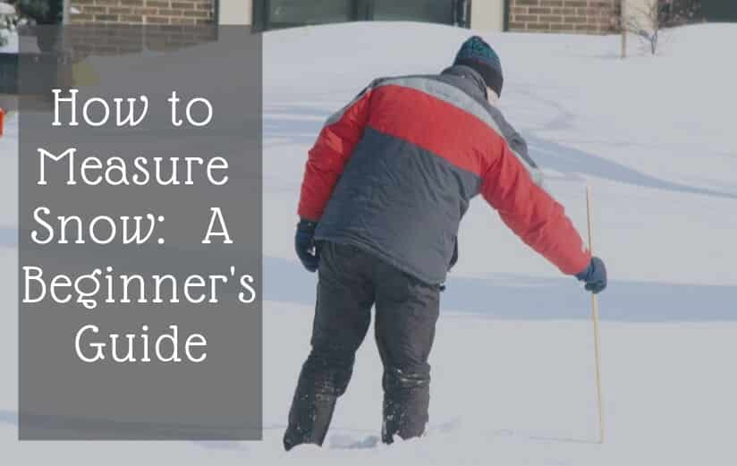 How to measure snow