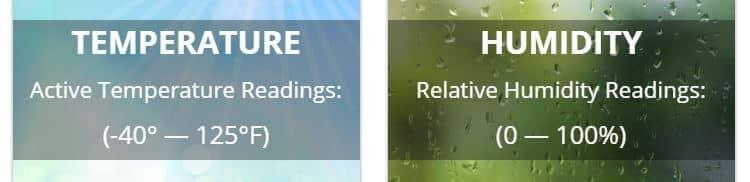 remote temperature sensor ranges