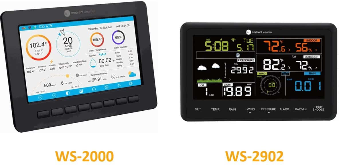 WS-2000 vs WS-2902 Displays