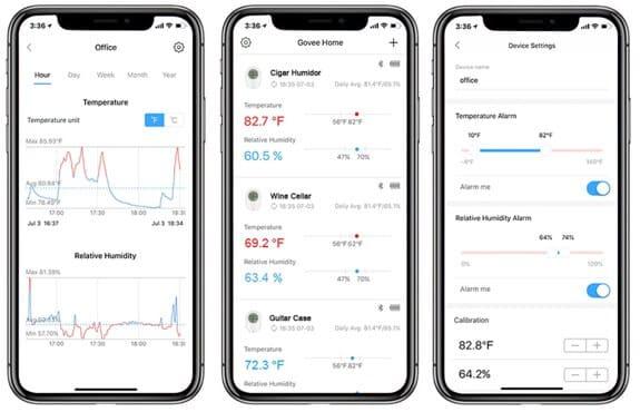 Govee Hygrometer Iphone App